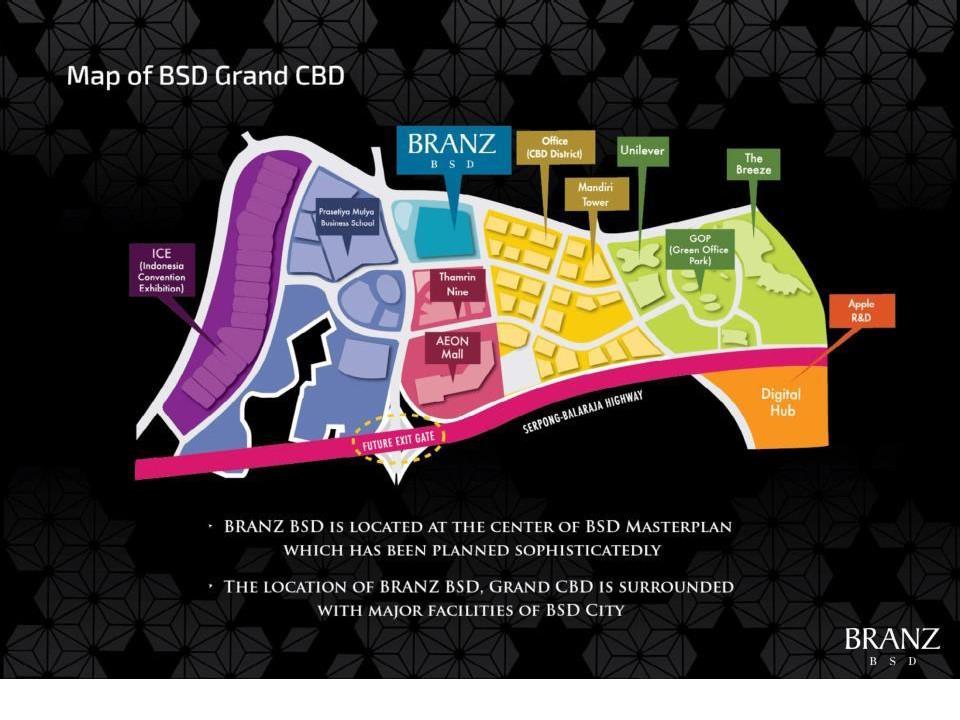 peta lokasi branz BSD