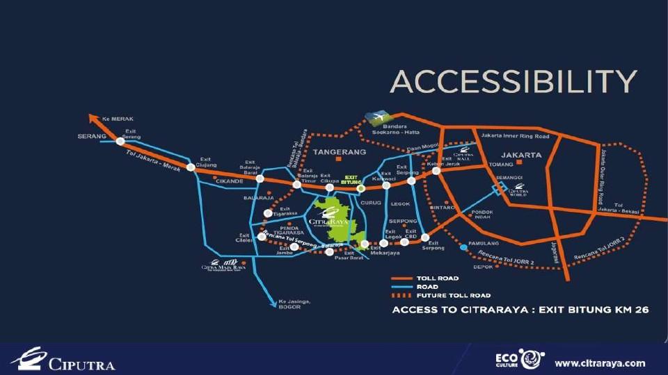 peta lokasi Citra raya tangerang