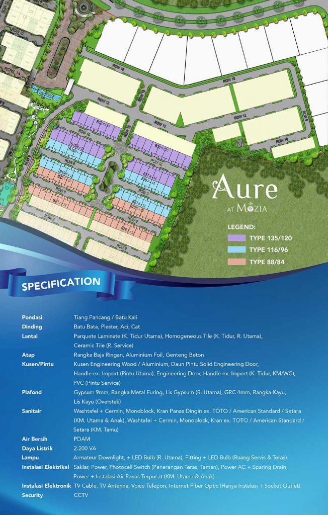 siteplan Aure
