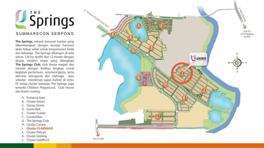 lokasi cluster flamingo summarecon serpong