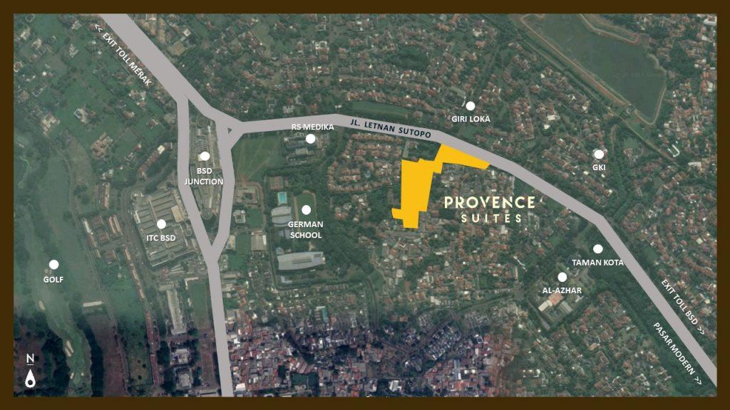 Lokasi Provence suites BSD