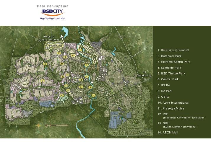 peta lokasi whelford bsd