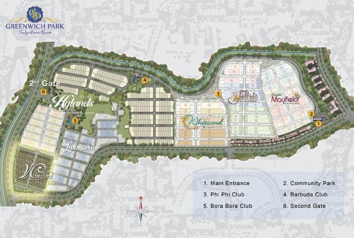 siteplan Greenwich park