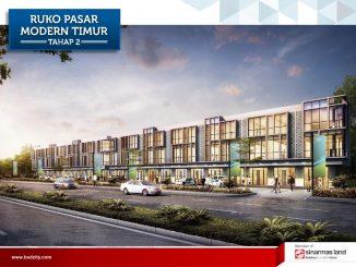 Tampak Depan Ruko Pasar Modern Timur BSD
