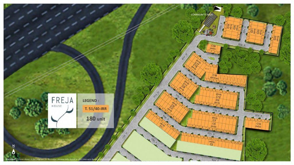 Siteplan Freja House BSD