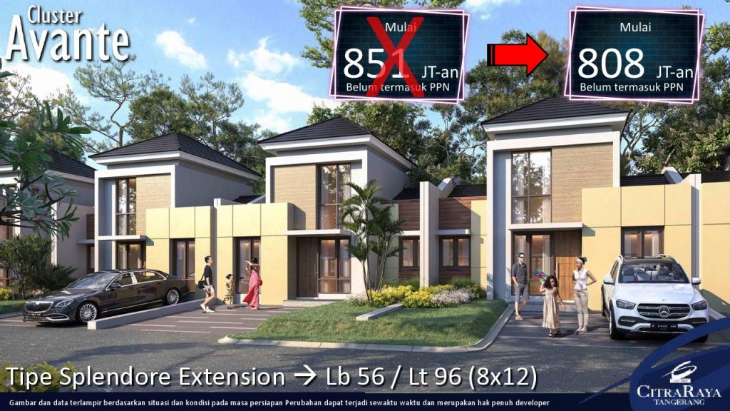 Cluster Avante Citra Raya Tangerang Rumah Mulai 488 Juta Konsultasi Properti