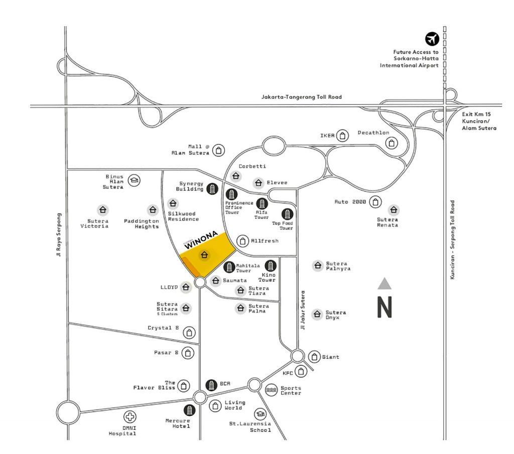 Peta lokasi Sutera Winona