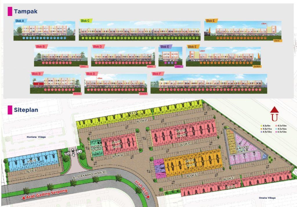 Siteplan Ruko Pisa Grande