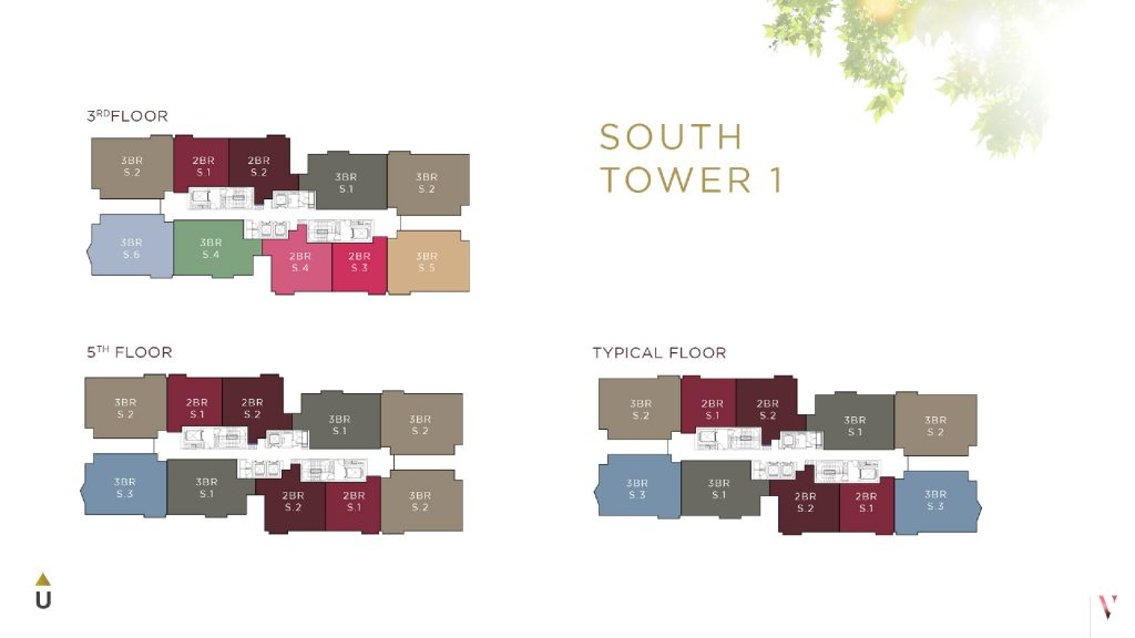 Layout South Tower 1 Elevee