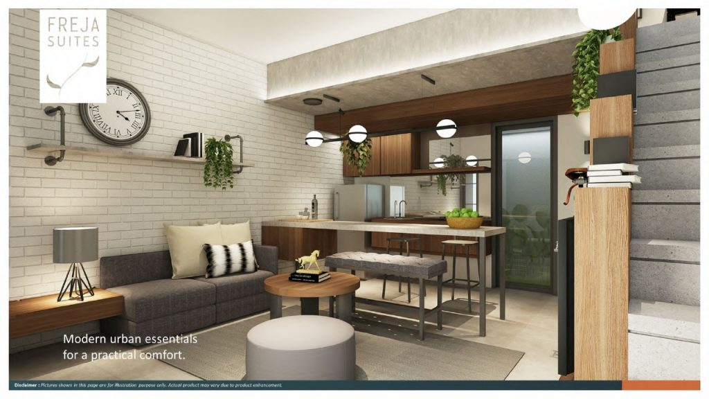 Dining dan kitchen area Freja Suites