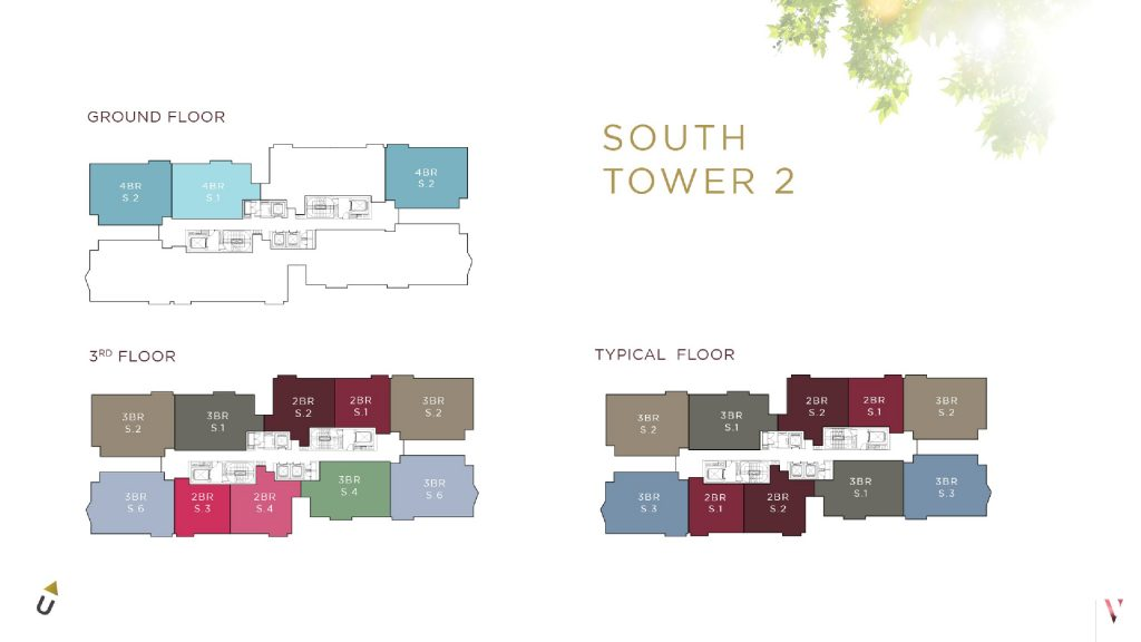 Layout South tower 2 Elevee