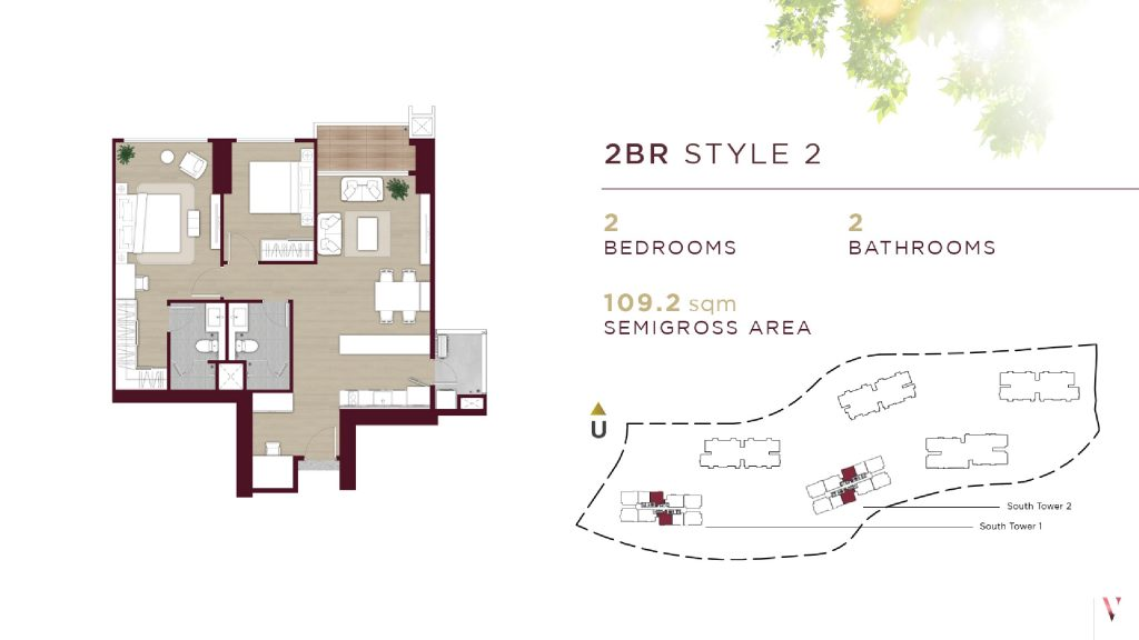 Layout 2BR Style 2 Elevee