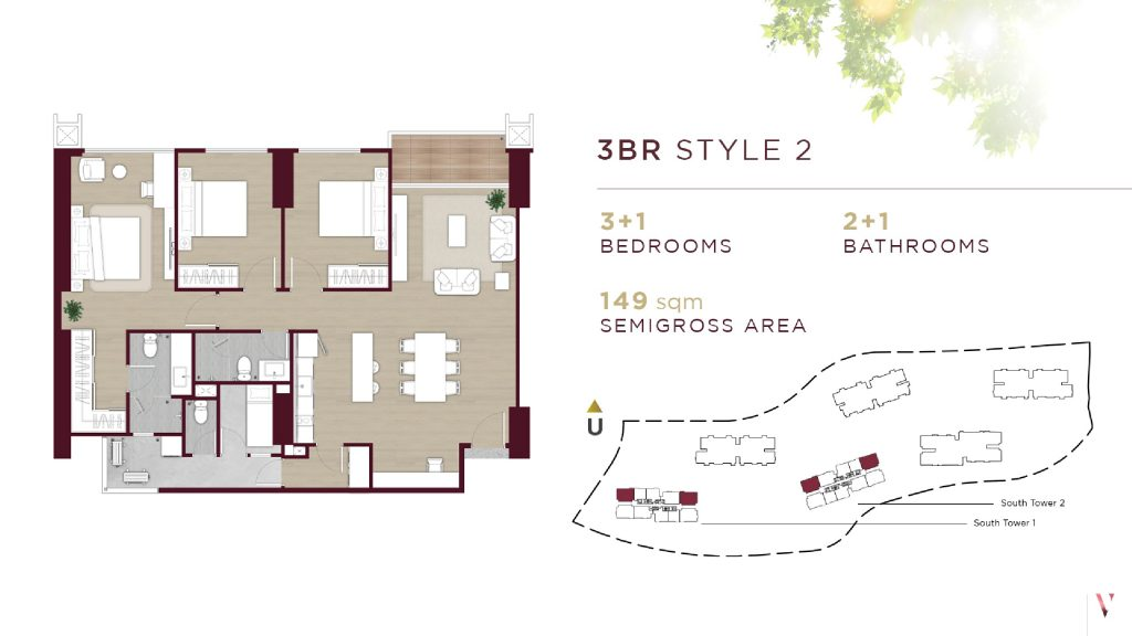Layout 3BR style 2 Elevee