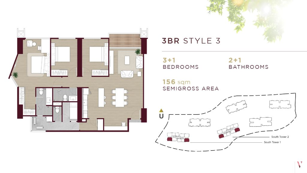 Layout 3BR Style 3 Elevee