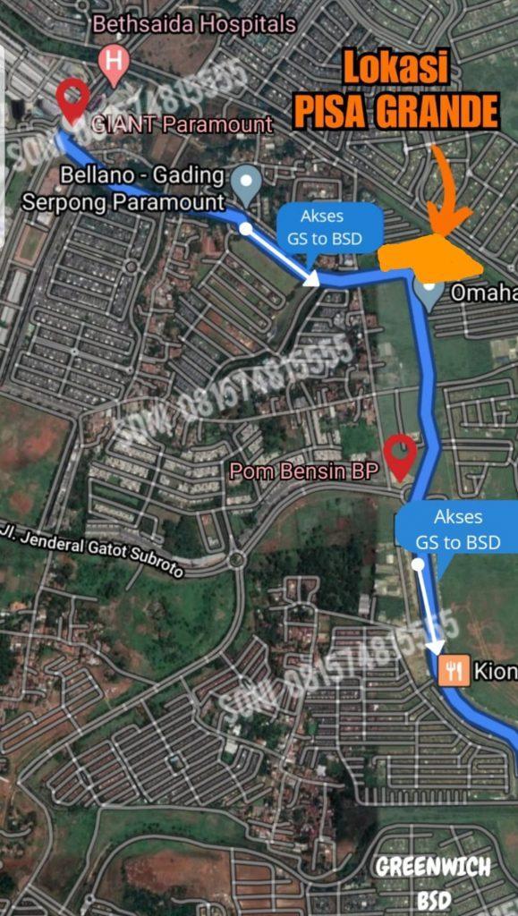 Peta Lokasi Ruko Pisa Grande
