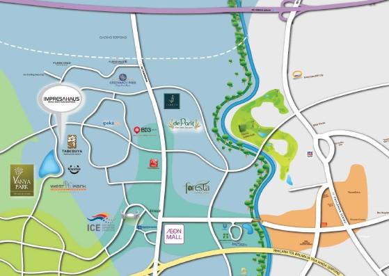peta lokasi impresahaus bsd