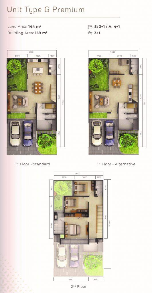 layout Mahogany Tipe G premium