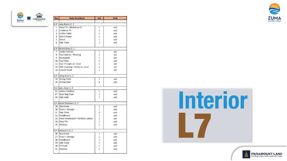 list furniture zuma lebar 7