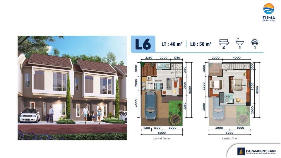 layout zuma malibu village lebar 6