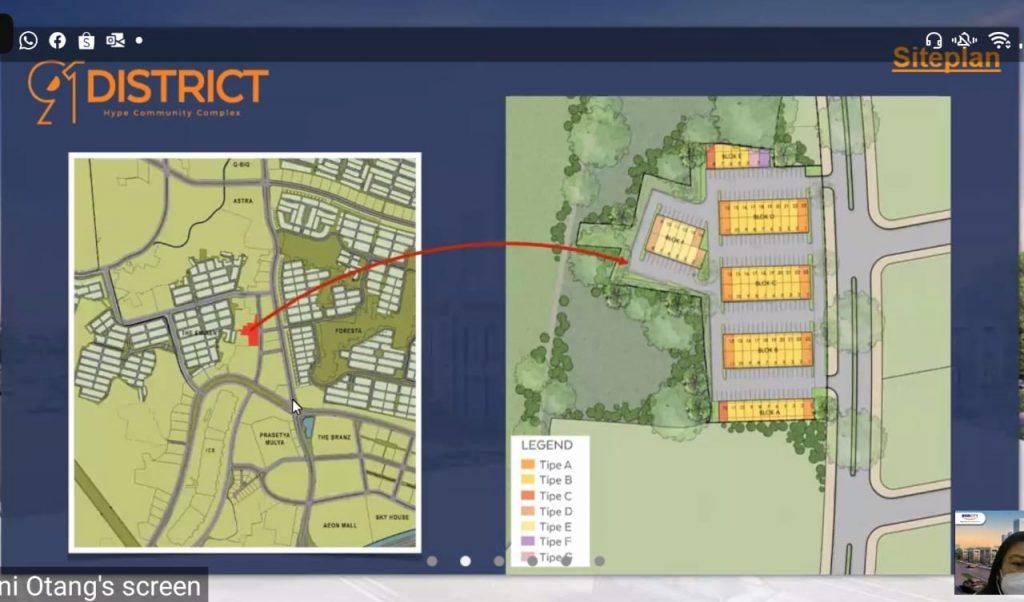 siteplan ruko 91 district bsd