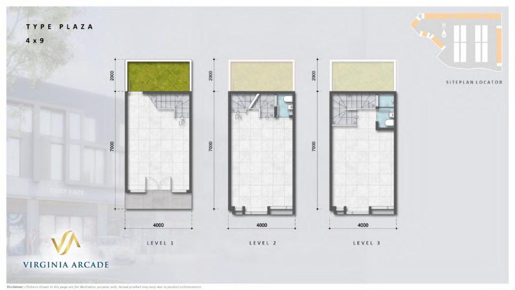 layout tipe plaza 4x9