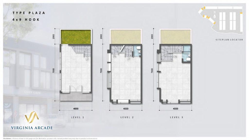 layout tipe plaza 4x9 hook