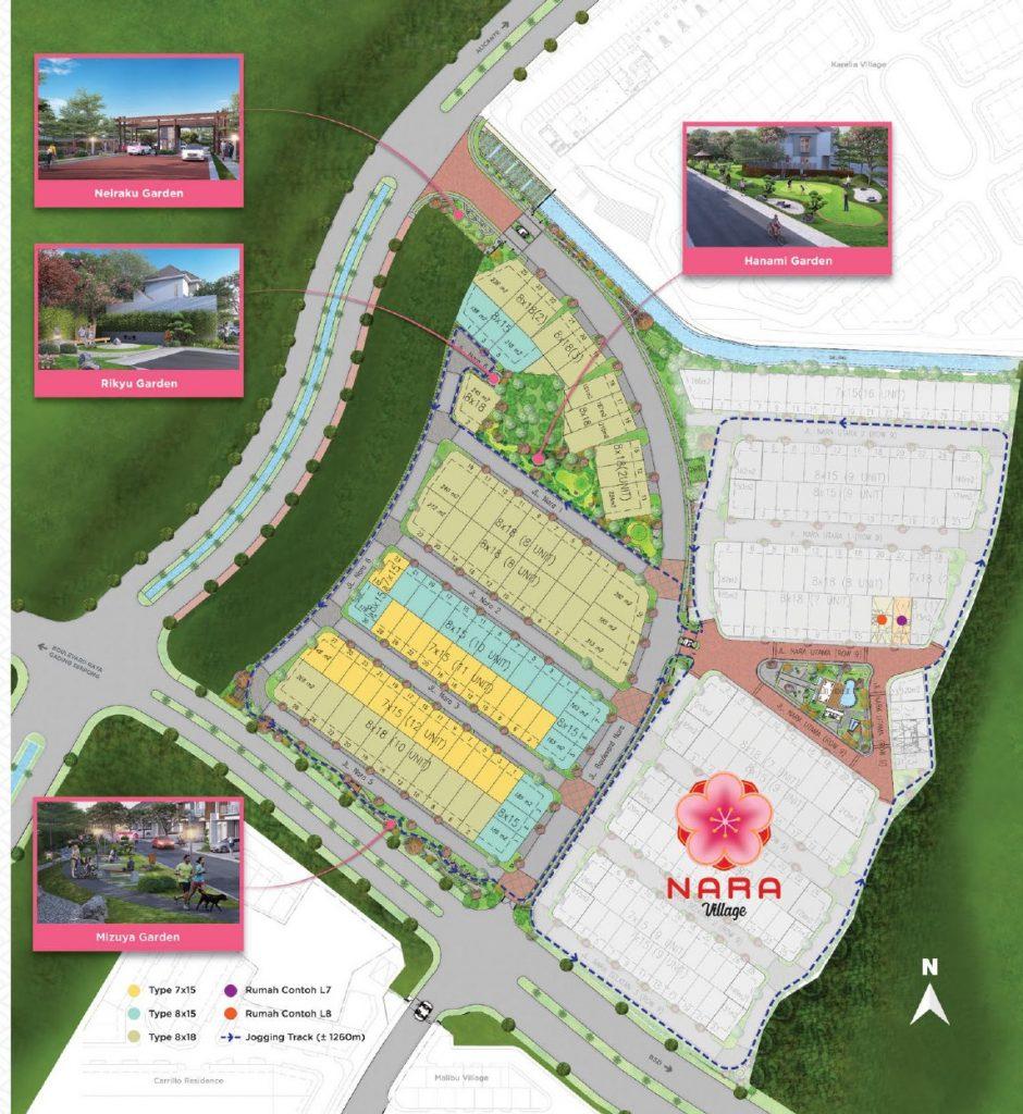 siteplan nara village