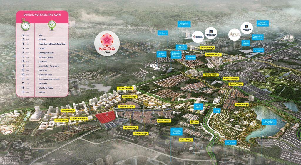 peta lokasi nara village