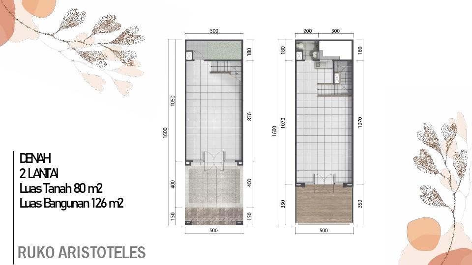 layout ruko 2 lantai